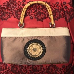 Beautiful tan satin purse